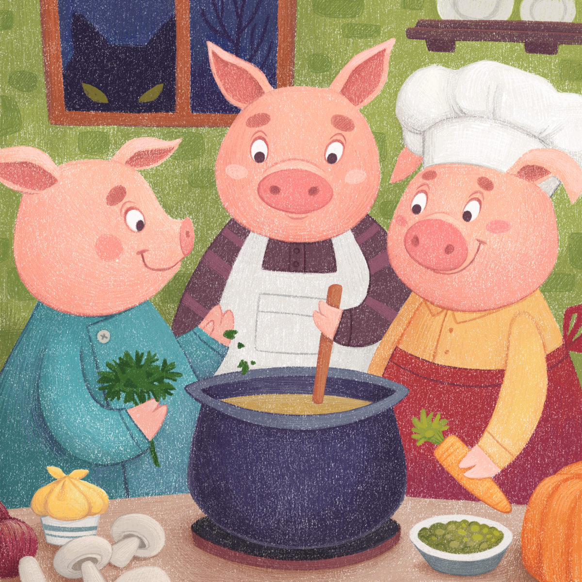 Children's book illustration by Margarita Levina