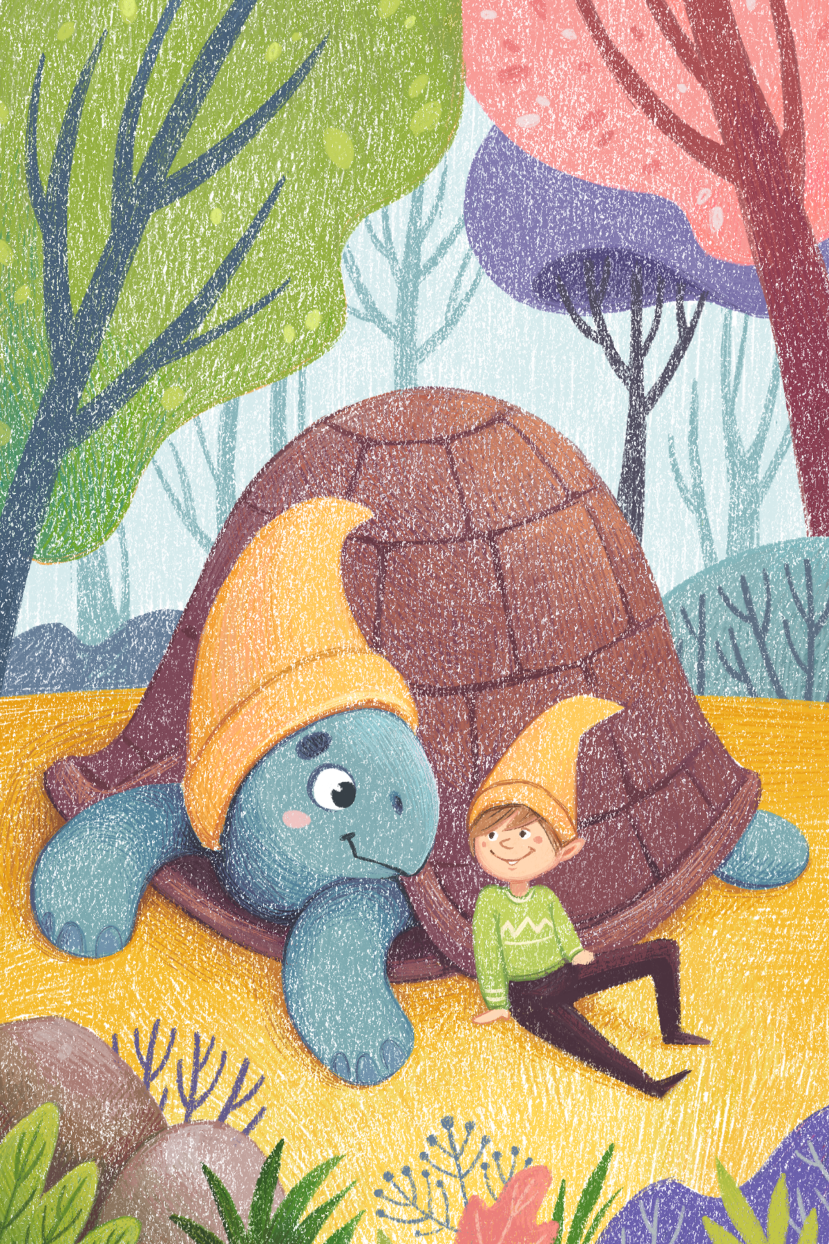 Children's illustration with the turtle by Margarita Levina