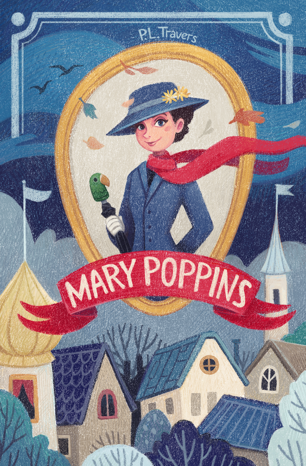 Mary Poppins children's book cover by Margarita Levina